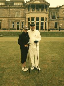 Waiting to Tee Off At the Old Course