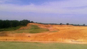 The 3rd hole at Erin Hills.